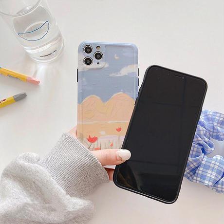 Cloudy windy iphone case