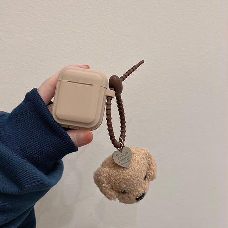 Puppy doll strap airpods case