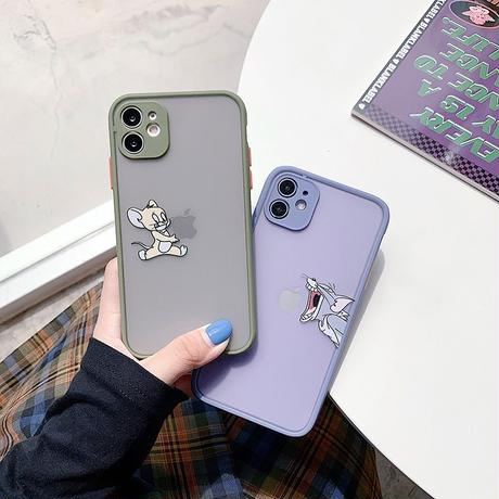 Mouse cat apple color side iphone case