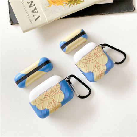 Blue rose line airpods case