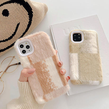 Pinkbeige khaki fur iphone case
