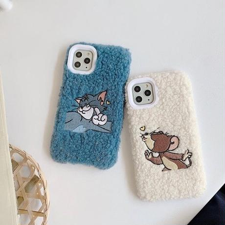 Mouse cat white blue fur iphone case