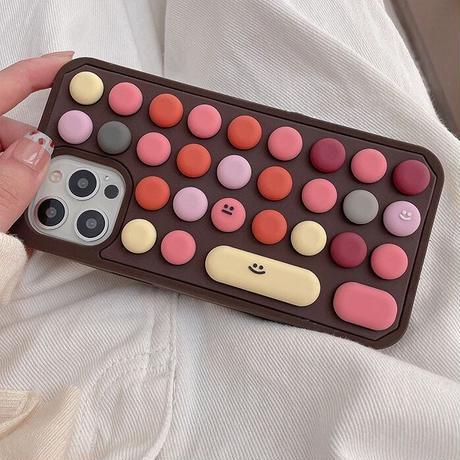Brown keyboard iphone case