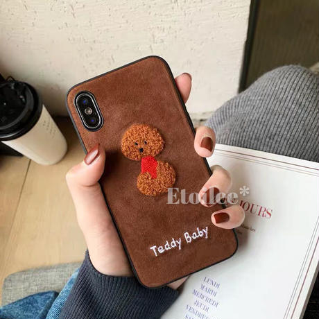 Teddy poodle iphone case