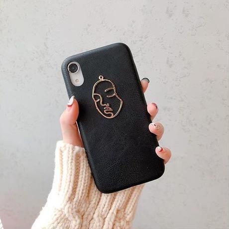 Metal face iphone case