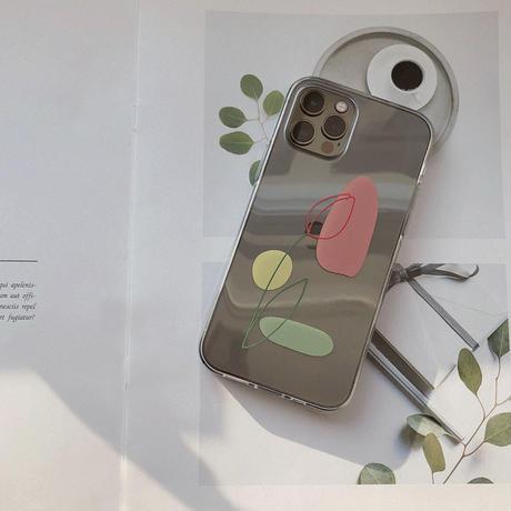 Tulip line clear iphone case [F]