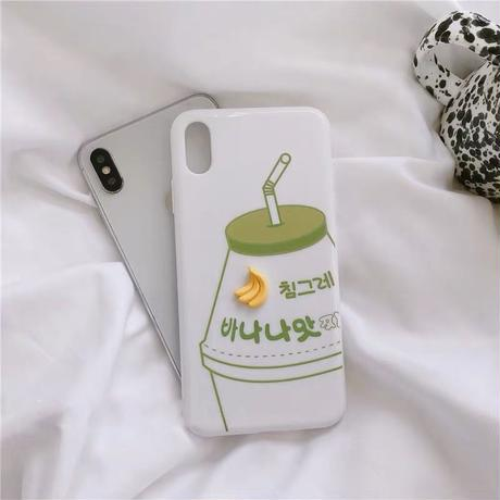 Banana strawberry milk white iphone case