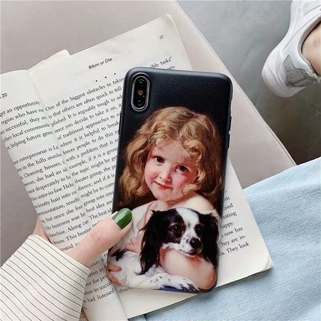 Boy girl black iphone case