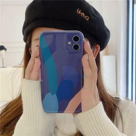 Blue painting iphone case