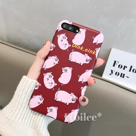 Red oink iphone case