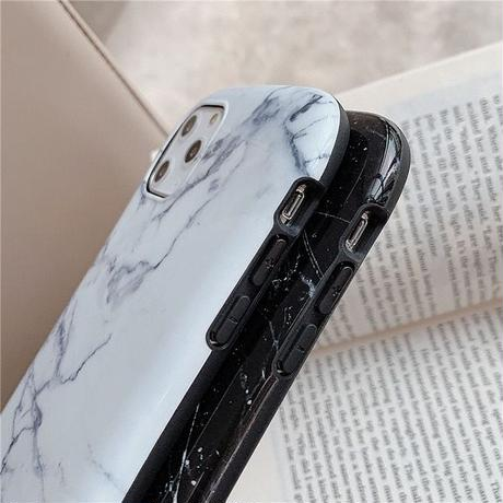 Marble black white iphone case