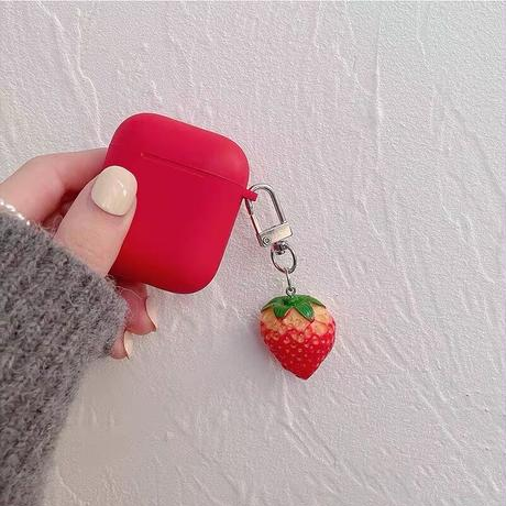 Strawberry simple airpods case