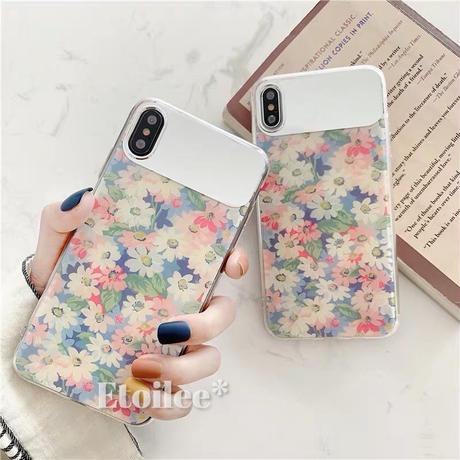 Retro flower mirror iphone case