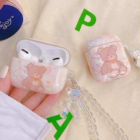 Teddy bear strap airpods case