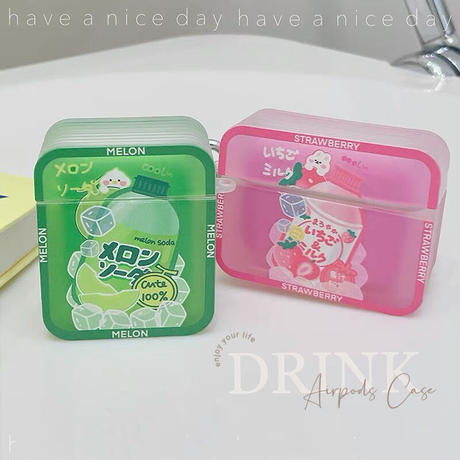 Melon strawberry drink airpods case