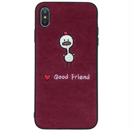 Good friend embroidered iphone case