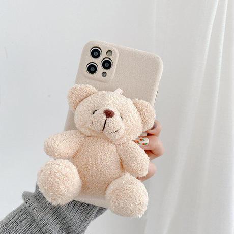 Big teddy bear doll iphone case