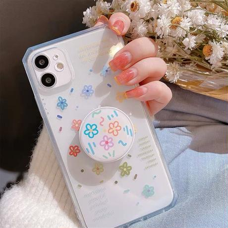 Flower drawing  with grip iphone case