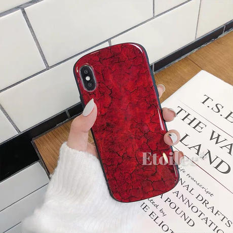 Marble round iphone case