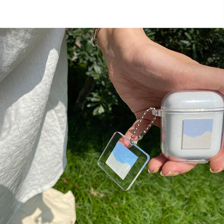 Today clear keyring airpods case