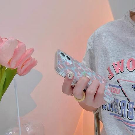 Pink leopard laser iphone case