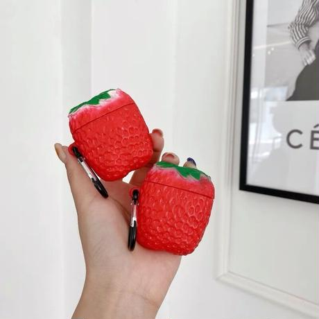 Big strawberry airpods case