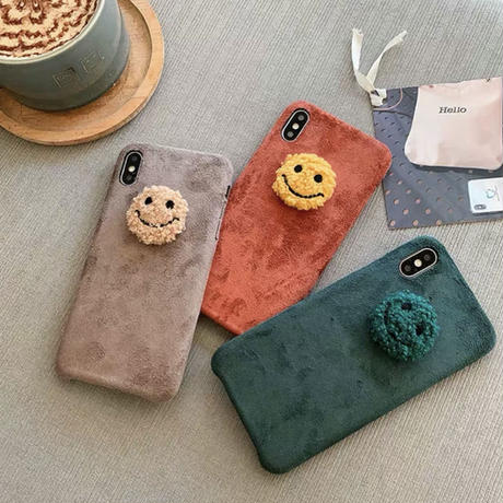 Smile fur earth color iphone case