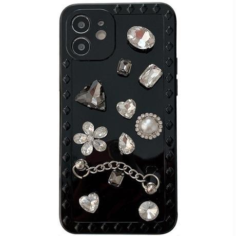 Jewel black iphone case