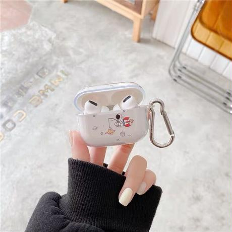 Astronaut clear airpods case