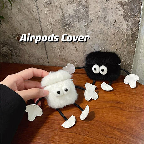 Small monster fur airpods case
