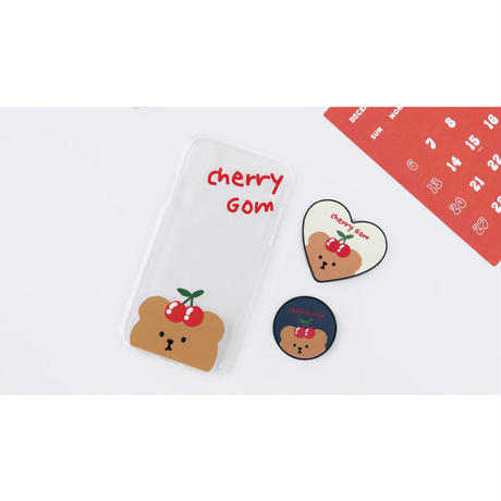 Cherrycherry bear clear case