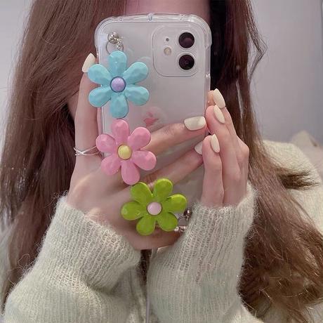Big flower strap iphone case
