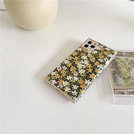 Flower square iphone case