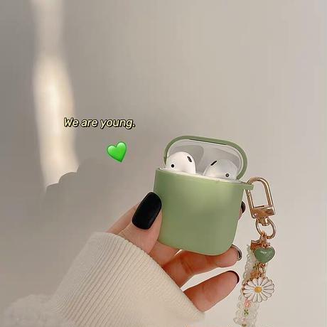 Daisy keyring green airpods case