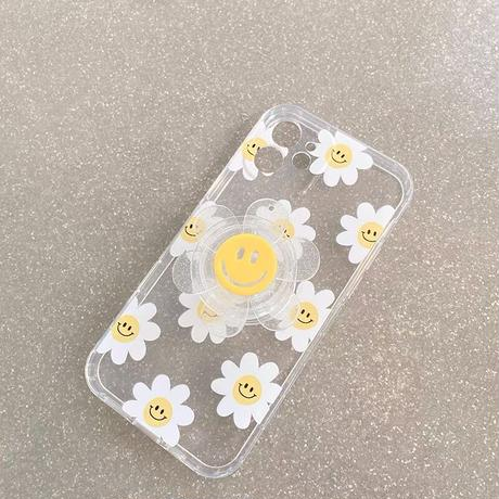 Smile daisy clear grip iphone case