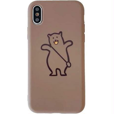 Bear brown grey iphone case