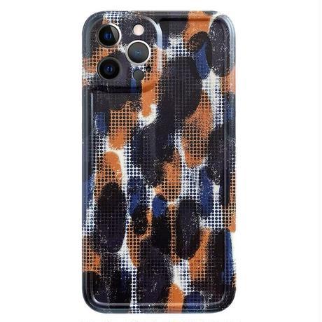 Navy brown art iphone case