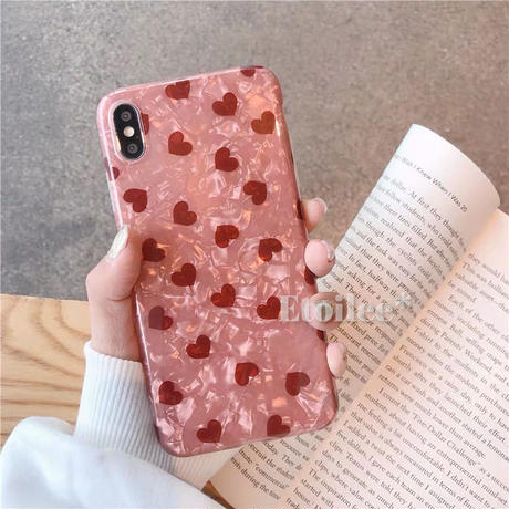 Red heart shell2 iphone case