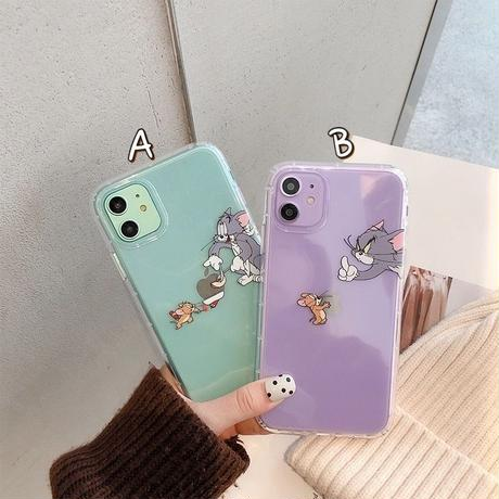 Mouse cat couple clear iphone case