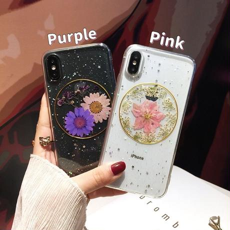 Flower gold ring  case(Purple, Pink, Green)