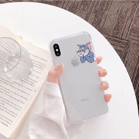 Mouse cat clear  iphone case