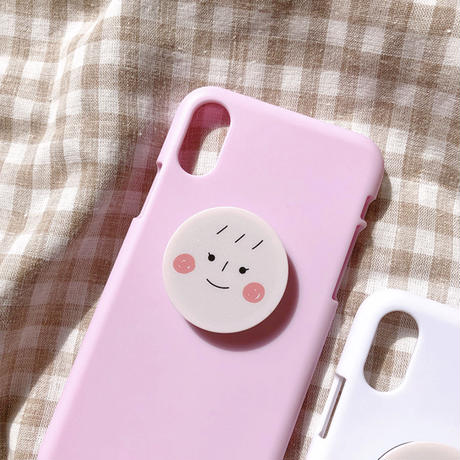 Boy girl face  grip for phone