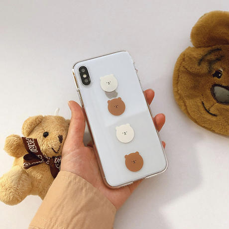 Bear face clear iphone case