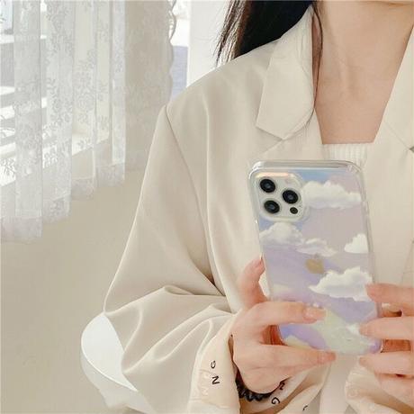 Cloud laser iphone case