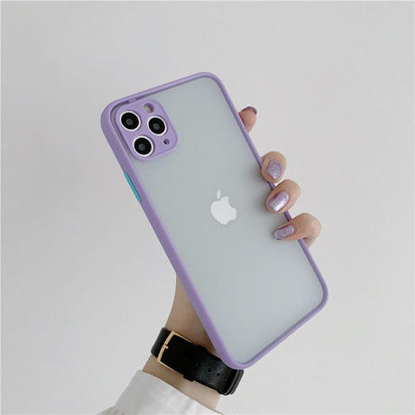 Mint blue purple peach color side iphone case