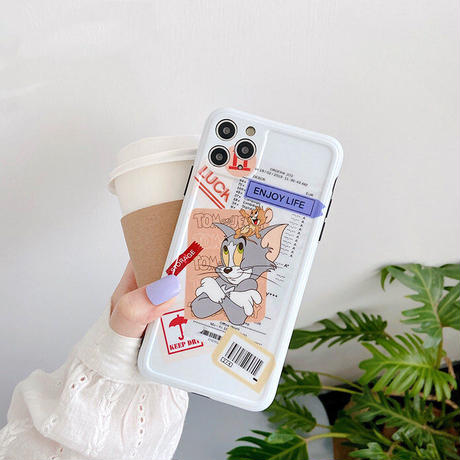 Mouse cat big label iphone case