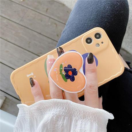 Heart glitter grip for phone