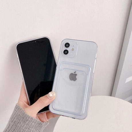 Clear pocket iphone case
