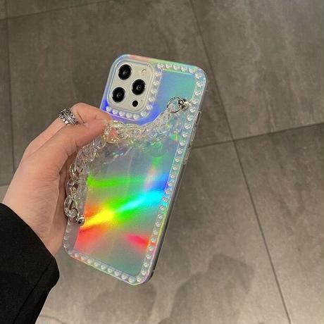 Clear strap laser film iphone case