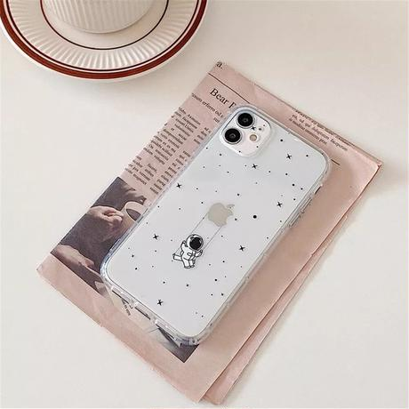 Astronaut swing rope clear iphone case